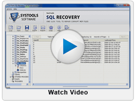 Video of SQL Database Repair Tool